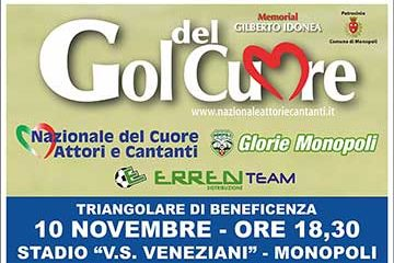 Triangolare di Beneficenza 10 Novembre 2018